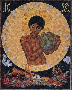 The Cosmic Christ icon detail