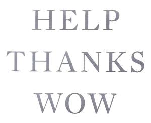 Help Thanks Wow prayer white copy