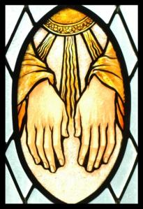 laying_on_hands STAINED GLASS