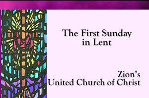 Lent First Sunday