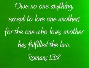 Romans 13 8