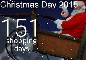151 shopping days till Christmas 2015